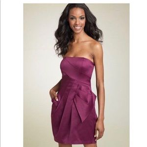 Max and Cleo Strapless Side-bow Cocktail Dress